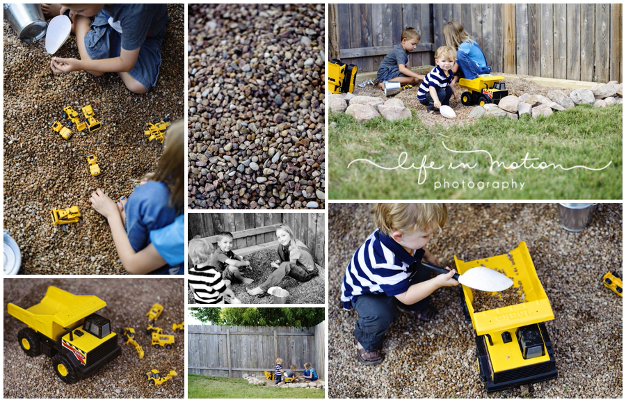 build a backyard gravel dig space