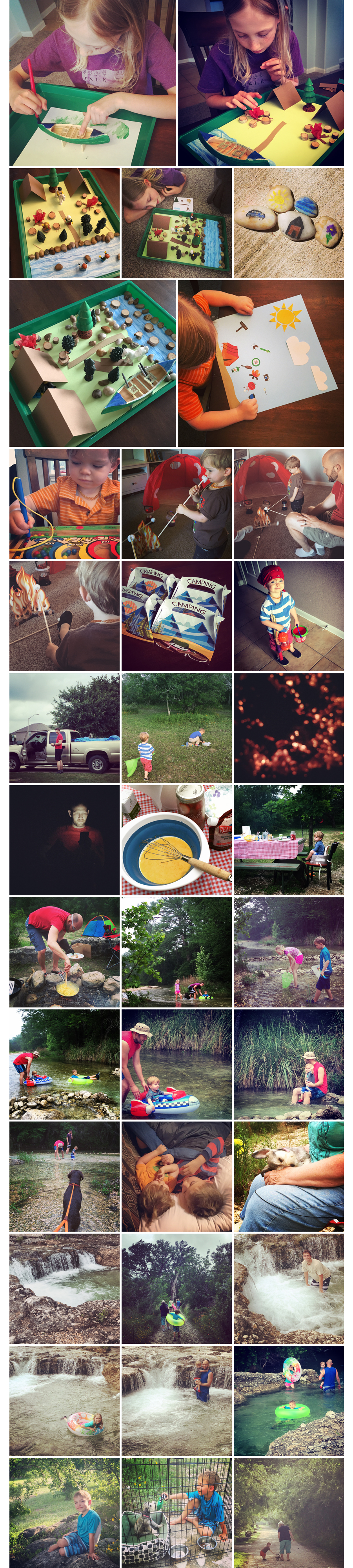 camping theme homeschool