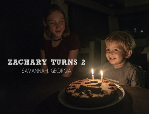 Zachary turns 2 in Savannah, Georgia | Fulltime RV Family