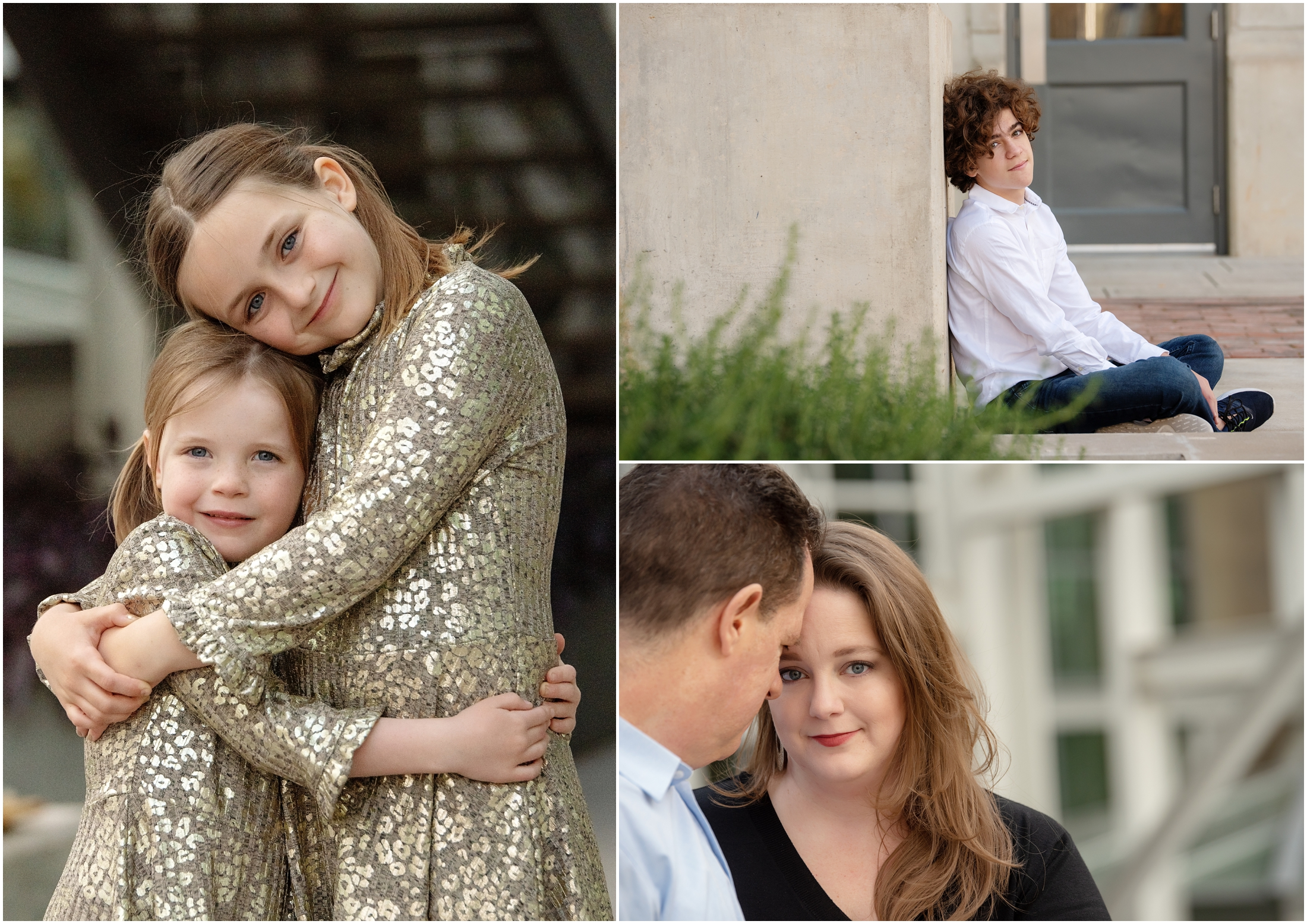 photo collage of family photos in austin texas power plant