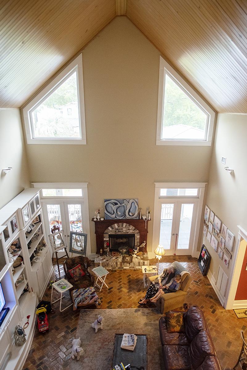 photo overhead at beach house