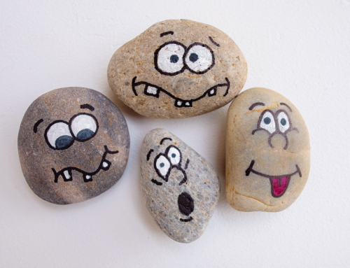 365 Project:  Funny face painted rocks